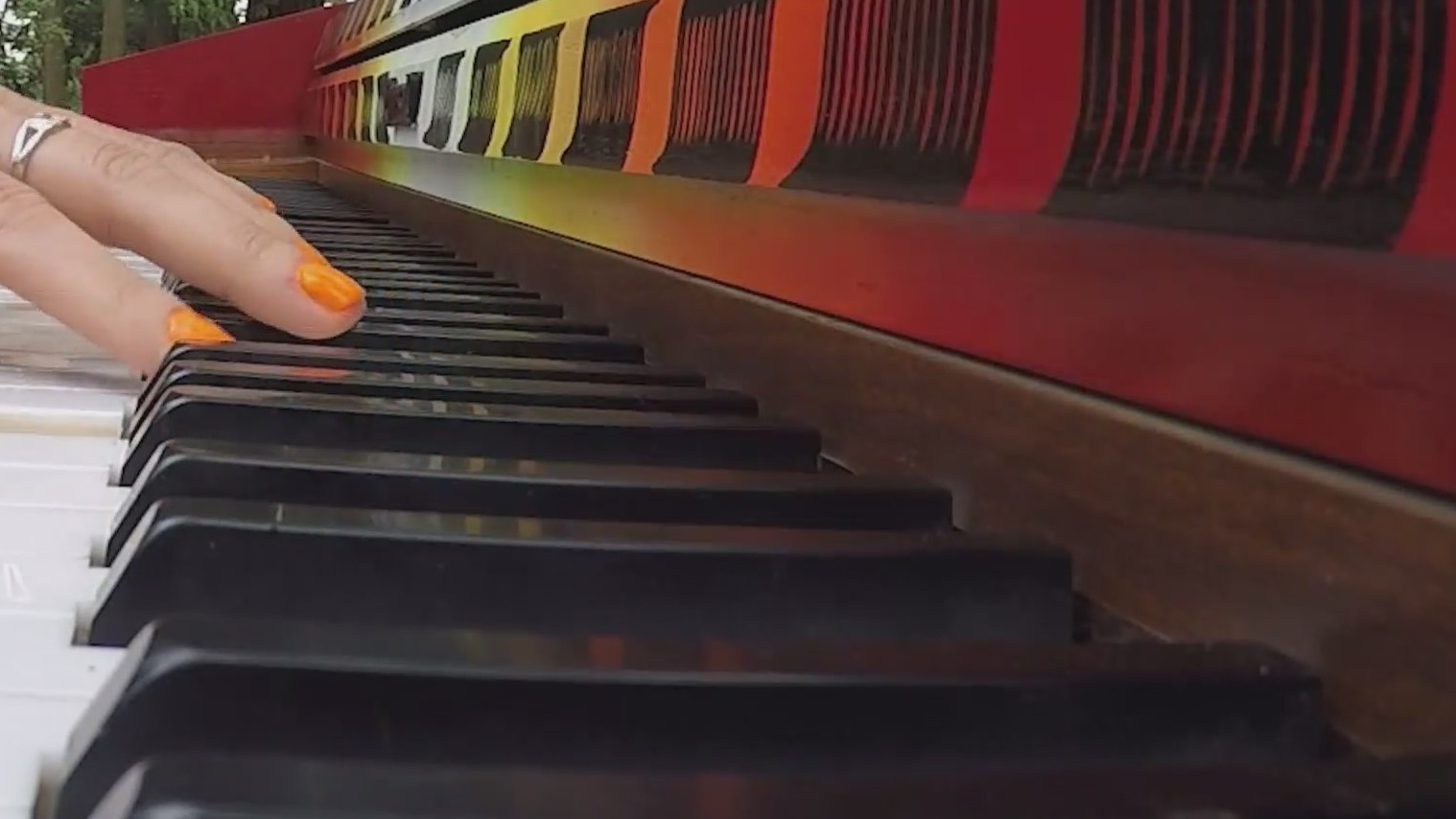 Outdoor pianos bring music to the Rose City with 'Piano. Push. Play.'
