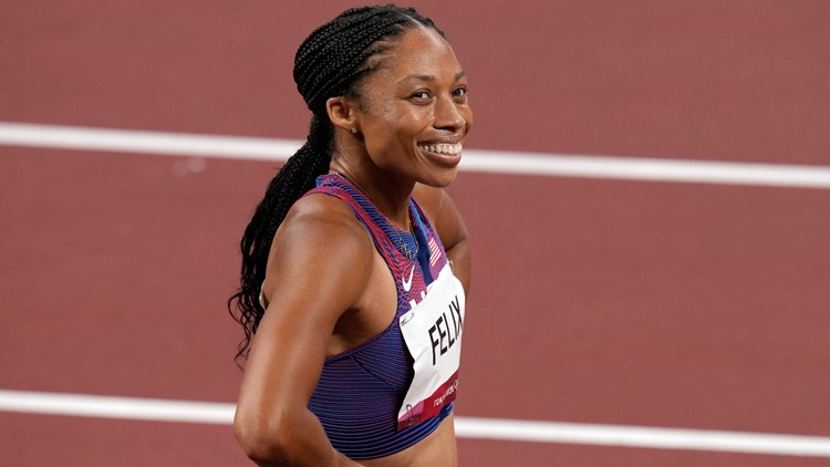 Was Allyson Felix able to make Olympic history in the 400 meters?