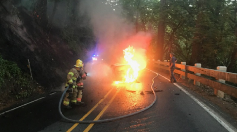 Motorcyclist severely injured in crash on Columbia River Hwy