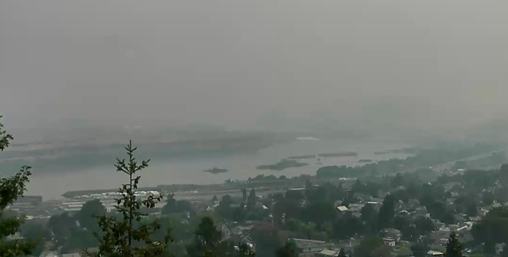 MAPS: Air quality advisories across Oregon amid wildfires, hot temps