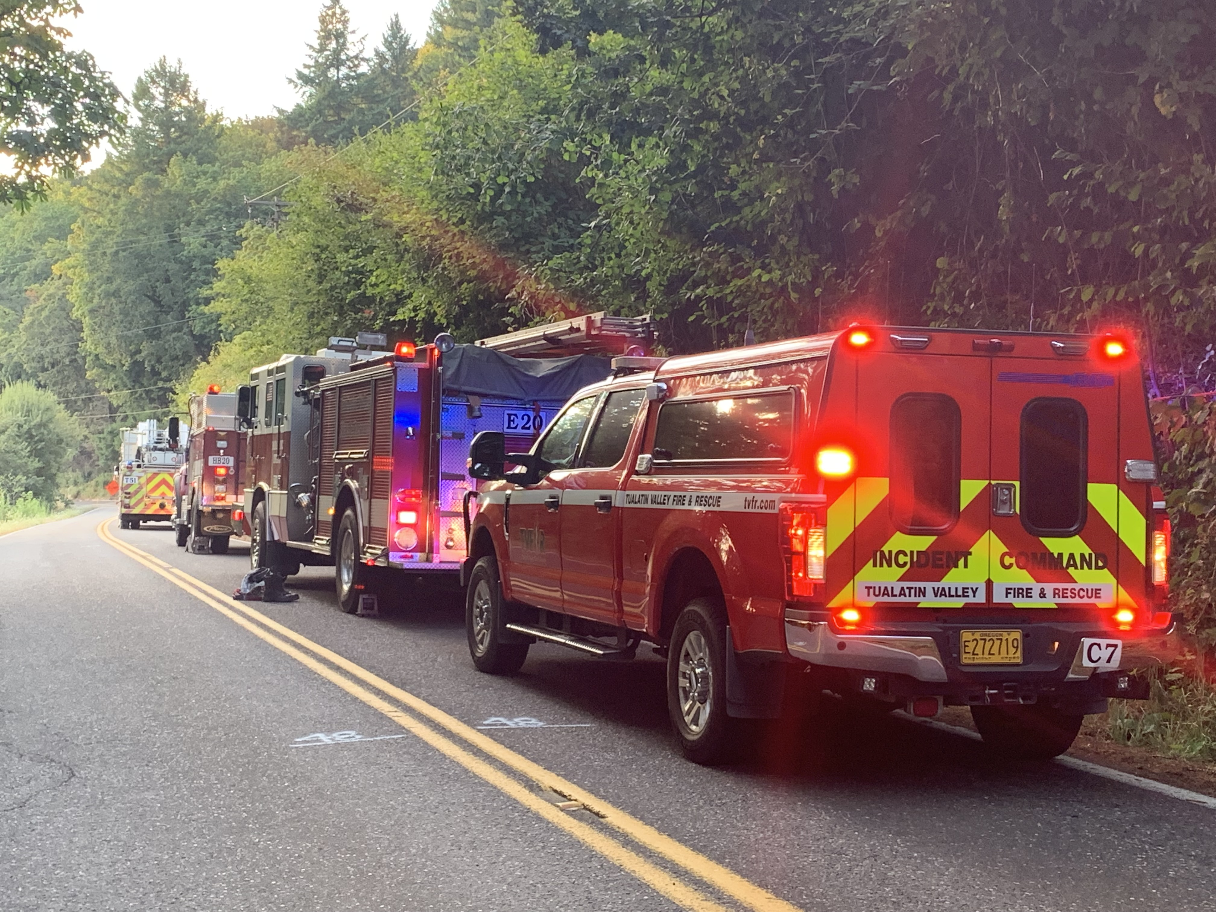 Update: Hang glider rescued in Newberg after stuck in trees