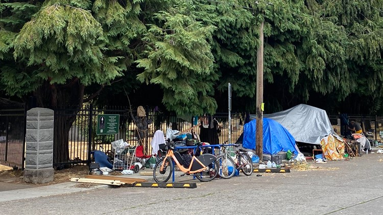 'Families come here to grieve': Pleas grow for Portland officials to address homeless camp outside cemetery