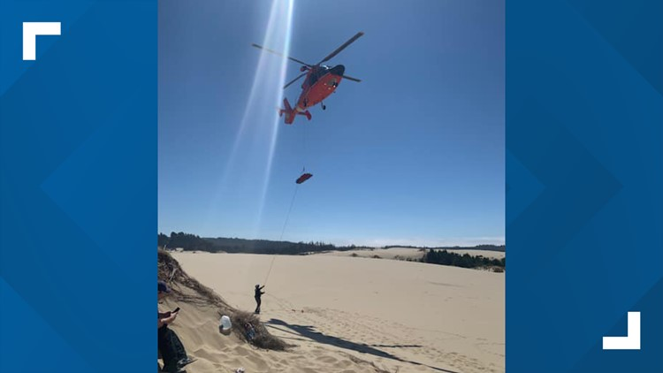 Man rescued after spending 5 days stuck in Central Oregon Coast dunes