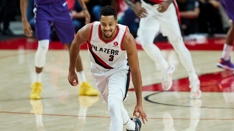 McCollum helps Blazers rout Suns, 134-105, for first win of season