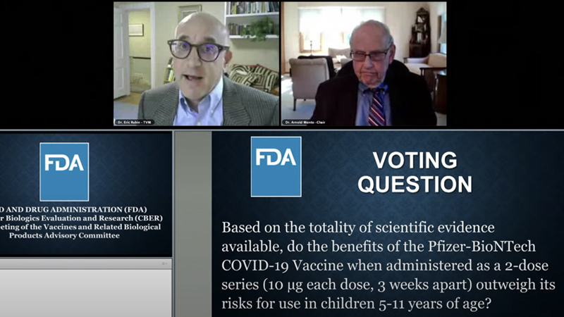 FDA Panel Rubber-Stamps Covid Injection For Kids 5-11: 'Never Gonna Learn How Safe the Vaccine is Until We Start Giving It'